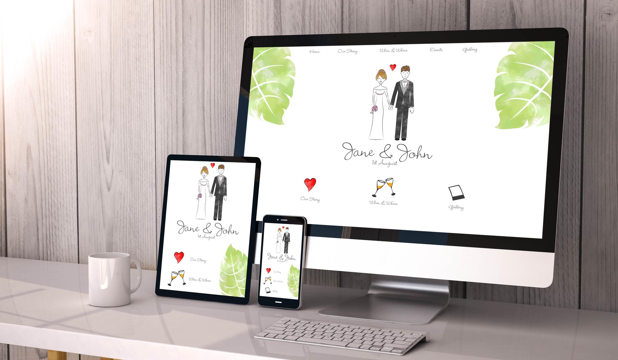 Romantisk hjemmeside
